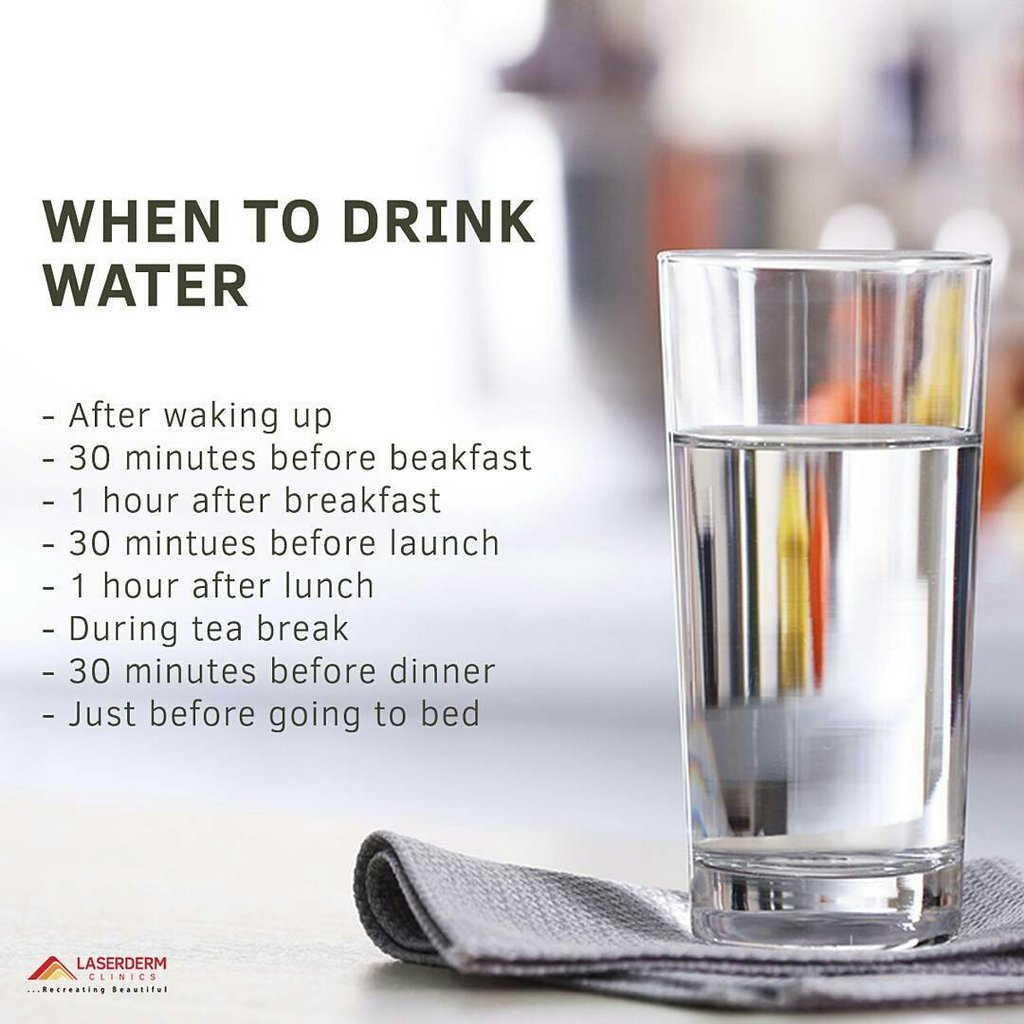 Best Times To Drink Water